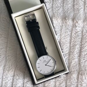 Daniel Wellington Silver 36mm Classic Watch + Band